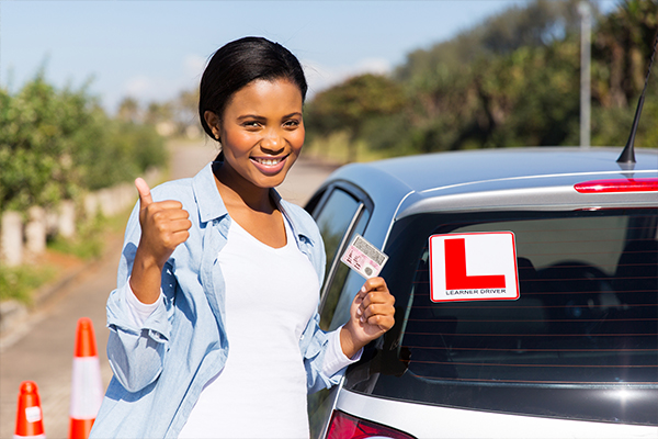 An image of a learner driver